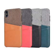 For iPhone 7 8 Plus XS Max XR Case Retro Leather Slim Card Slot Back Thin Cover