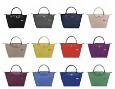 NEW Authent Longchamp Le Pliage 1899 Nylon Tote Bag with Horse Embroidery  L & M