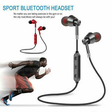 Sweatproof Wireless Bluetooth Earphones Headphones Sports Gym For iPhone Samsung