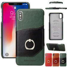 For iPhone XS Max 8 7 6 Plus XR Case Leather Stand Card Holder Wallet Slim Cover