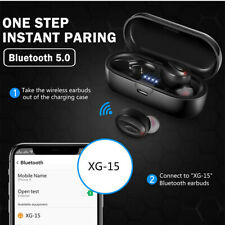 UK Bluetooth 5.0 Headset TWS Wireless Earphones Mini Earbuds Stereo Headphones F
