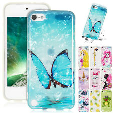 For iPod Touch 6th Gen Case 5th Gen Hybrid Gel TPU Rubber Shockproof Thin Cover