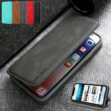 For iPhone XS Max XR X 7 Plus 8 Case Magnetic Leather Slim Card Slot Stand Cover
