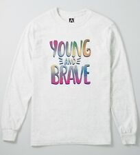 Young Brave Long Sleeve Top Cute Bohemian Festival Hipster Style UNISEX