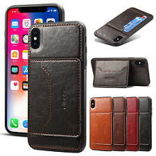 For iPhone XS Max Case XR X 7 8+ Luxury Shockproof Leather Card Slot Armor Cover