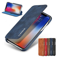 For iPhone XR XS Max 8+7 Case Luxury Leather Card Holder Slim Stand Flip Cover