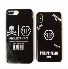 Philipp Plein hard cover Tempered Glass Case for iPhone8 7 6 6S Plus X Xs Max XR