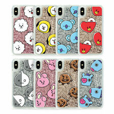 BTS BT21 Official Authentic Goods iPhone Glitter Case Hang Out Pattern Series