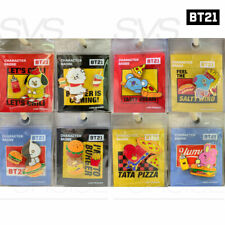 BTS BT21 Official Authentic Goods Character Badge BITE Ver + Tracking Number