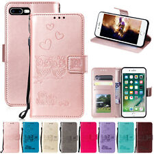 For iPhone 11 Pro Max Case 8 Plus 6 XS Max XR Emboss Magnet Leather Wallet Cover