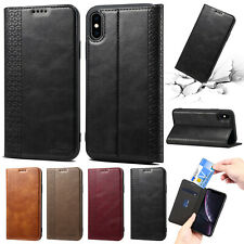 For iPhone 11 Pro Case 8 Plus XS Max XR Magnetic Slim Leather Wallet Stand Cover
