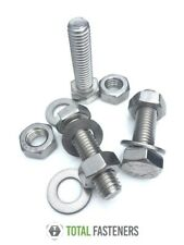M5 HEXAGON SETSCREW + HEXAGON FULL NUTS + WASHERS A2 STAINLESS STEEL