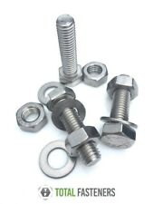M4 HEXAGON SETSCREW + HEXAGON FULL NUTS + WASHERS A2 STAINLESS STEEL