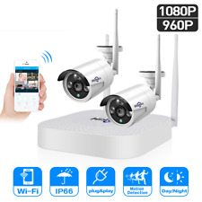 Wireless CCTV Security Camera System Outdoor 1080P 4CH HD NVR IP WiFi 2.0MP