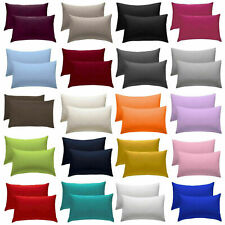 2X PILLOW CASE LUXURY CASES POLY COTTON PAIR PACK BEDROOM HOUSEWIFE PILLOW COVER
