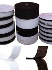 Sticky Back Self Adhesive Hook and Loop Fastener Tape 20mm 25mm 50mm 1m to 25m