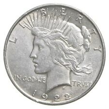 Choice AU/UNC 1922 Peace Silver Dollar - 90% Silver *457