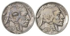 5c Buffalo Nickels - Great Detail in Buffalo Horn - 1936 & 1937 - Sweet! *195
