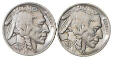 5c Buffalo Nickels - Great Detail in Buffalo Horn - 1936 & 1937 - Sweet! *201