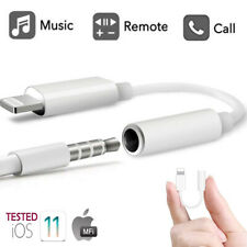 Lightning To 3.5mm Jack Earphone Headphone Aux Adapter For apple iPhone 11 X 8