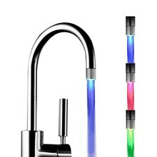 LED Faucet Light Tap Nozzle RGB Color Blinking Water Temperature Shower Kitchen