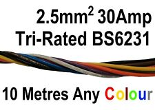 4m Tri rated Brown 29amp 2.5mm panel wire car Auto 12v automotive dc loom cable