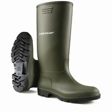 Black or Green Dunlop Waterproof Welly Wellies Wellington Boots Sizes 3 to 12