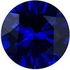 AAA Rated Round Faceted Bright Blue Lab Created Sapphire (1mm to 15mm)