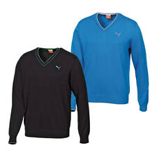Puma Golf V-Neck Solid Mens Golf Sweater. Available in 2 colours.