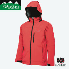 New Mens Softshell Ridgeline Fleece Jacket Red Windproof Hooded Hiking M-XXL