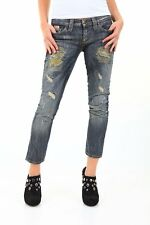 Jeans Donna Pantaloni SEXY WOMAN A361 Made in Italy Tg 25 26