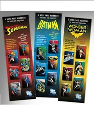 DC Superheroes, Mini-Mark MAGNETIC BOOKMARKS. Superman, Batman, Wonder Woman