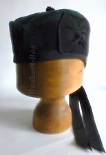 KILT GLENGARRY HAT BLACK WATCH SCOTTISH TARTAN ALL SIZES HIGHLAND KILTWEAR KILTS