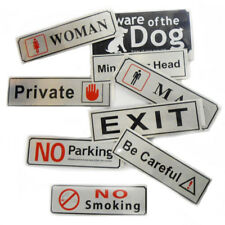 Sign Business Open Store X Shop Office Signs Self Adhesive Plaque Safety Notice
