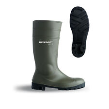 Dunlop Full Safety Wellies Welly Wellington Boots 142VP Green S5 Sizes 3 - 12