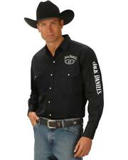 Jack Daniels Long Sleeve Embroidered Western Shirt JD Official Merchandise