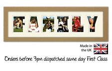 Family Photo Frame Name Frame Personalised Birthday Gift by Photos in a Word