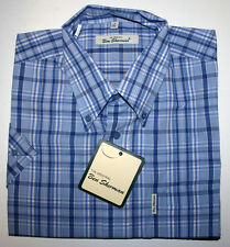 Ben Sherman kurzarm Button Down Hemd regular fit weit geschnitten kariert blau