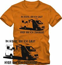 T-Shirt  Camping Wohnmobil T-Shirt viele Farben  Retro Style S/W Grafik DTG