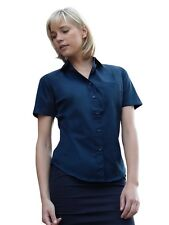 FRUIT OF THE LOOM - Popelin Kurzarm Bluse - 5 farben - damen - NEU