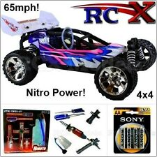RC Nitro Buggy Petrol Radio/Remote Control Car Fast Pro Truck 4WD 2 Speed 65mph