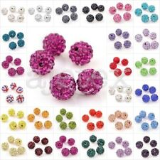 Hot 5x10mm Kristall Kugel Disco Balls Lehm Clay mit Strass Perlen Beads Ball