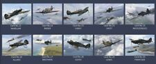 Hurricane MK1 Aces DFC collectors postcard set Battle of Britain Bader,Gleed,etc