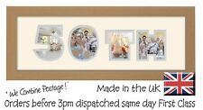 50th Birthday Photo Frame Personalised Gift Golden Wedding by Photos in a Word