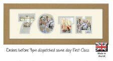 70th Birthday Photo Frame Name Frame Personalised Picture Gift Photos in a Word