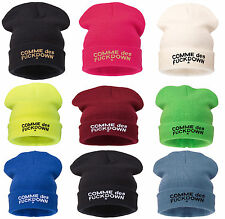 Kniteted Beanie Hat Winter Warm Wooly Mens Ladies Ski Skull Cap Comme