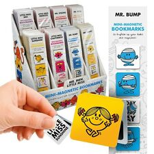 Mr Men & Little Miss Mini-Magnetic BOOKMARKS Sunshine Happy Princess Bump Bad