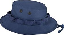 Navy Blue Military Wide Brim Fishing Hunting Boonie Hat