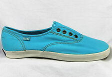 Keds Champion Not Too Shaby Slip On Blue Retro Plimsoll Trainers Sneakers BNIB