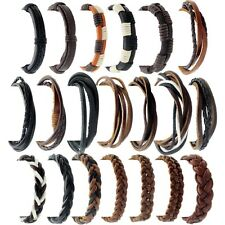 Mens REAL LEATHER BRACELET / WRISTBAND - Choose Your style - LBR
